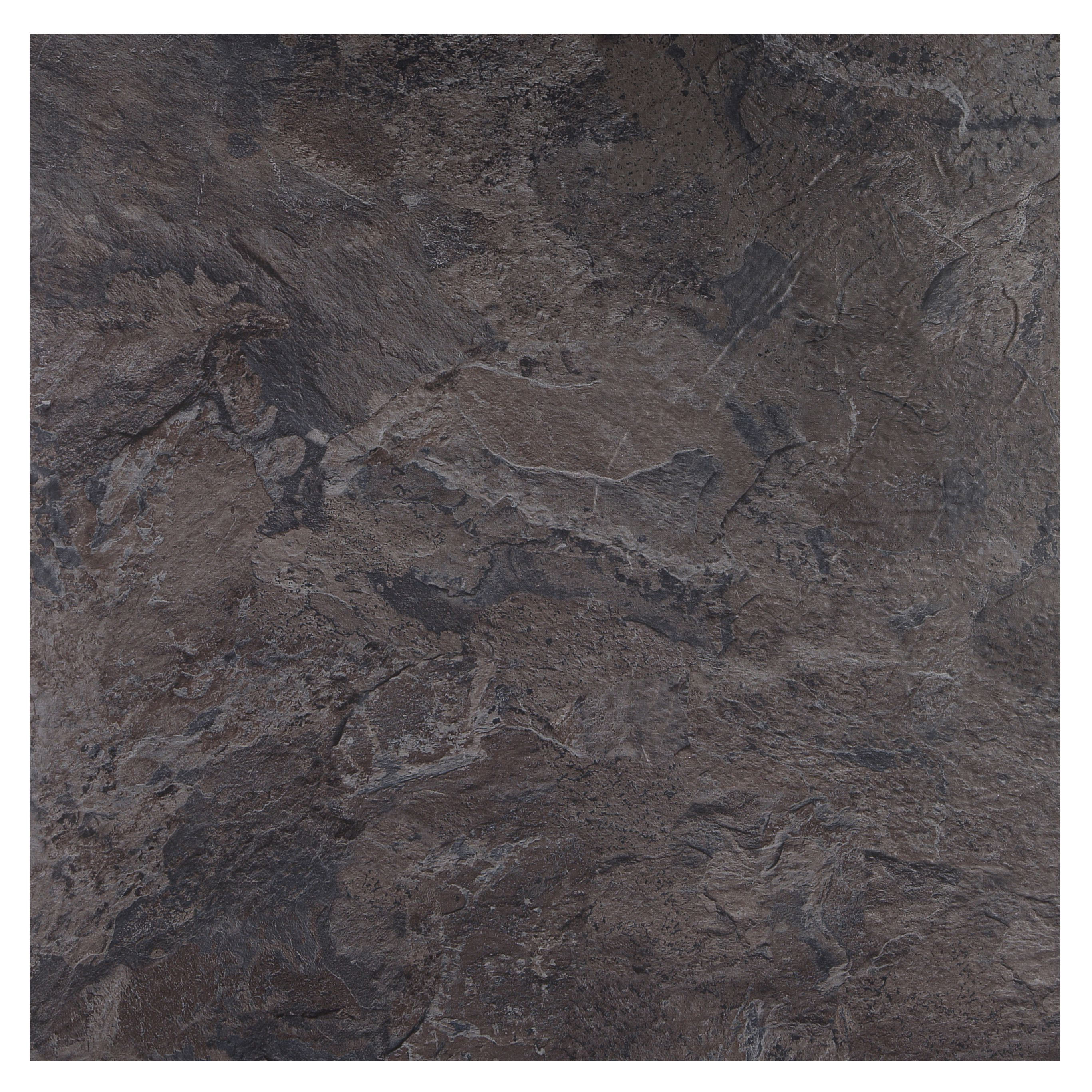 Colours Black Slate Effect Self Adhesive Vinyl Tile, 1