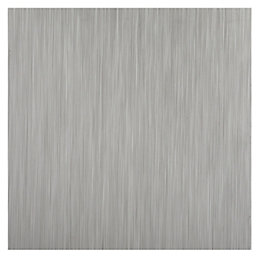 Colours Grey Brushed Self adhesive Vinyl tile 1.02m²
