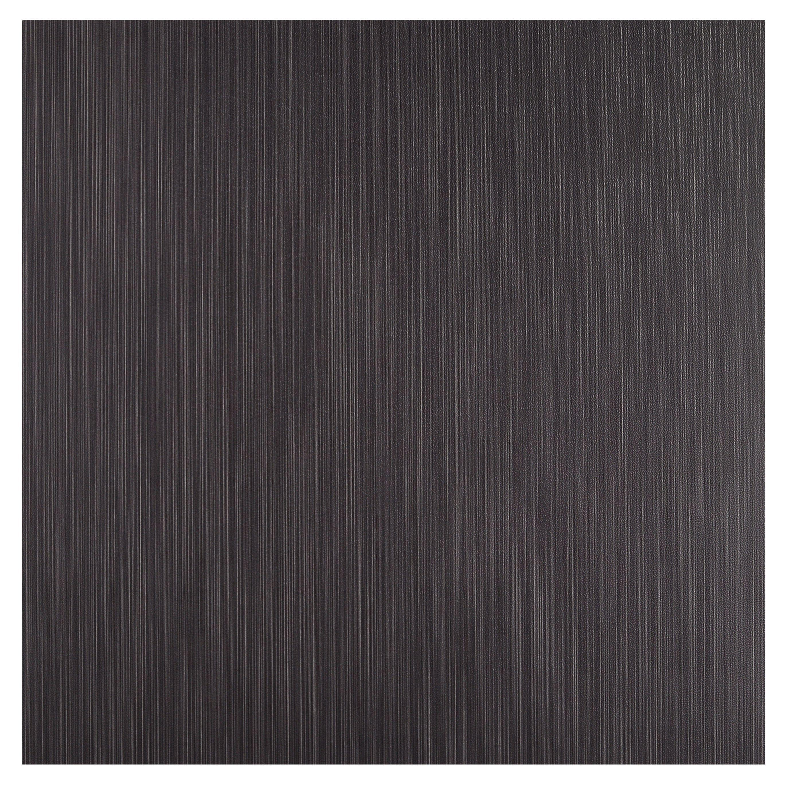 Colours Black Brushed Self Adhesive Vinyl Tile 1.02m² Pack