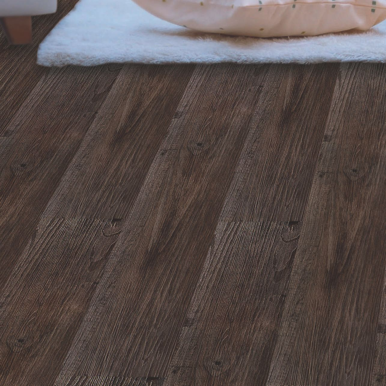 Light Oak Plank Wood Self Stick Adhesive Vinyl Floor Tiles: Colours Self Adhesive Dark Grey Oak Effect Vinyl Plank 0