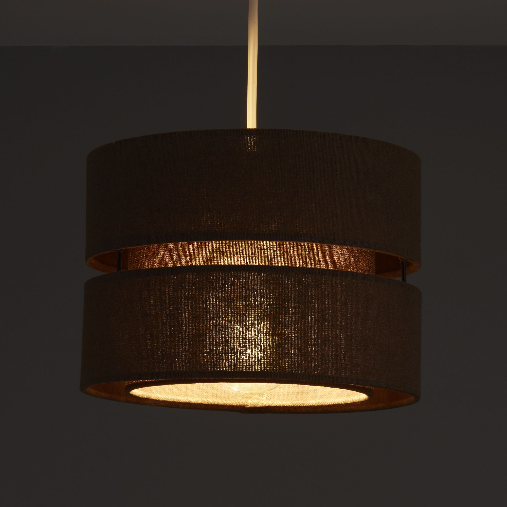 Colours Duo Chocolate 2 Tier Lamp Shade (D)220mm