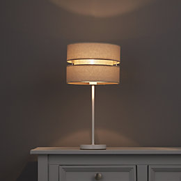 Colours Duo Cream 2 Tier Lamp Shade (D)220mm