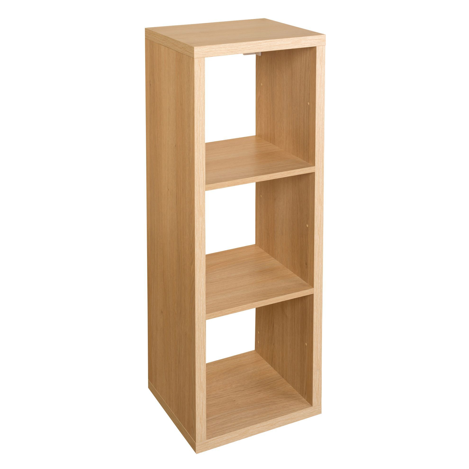 Form Mixxit Oak Effect 3 Cube Shelving Unit (H)1080mm (W)390mm |  Departments | DIY At Bu0026Q