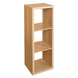 Form Mixxit Oak Effect 3 Cube Shelving Unit