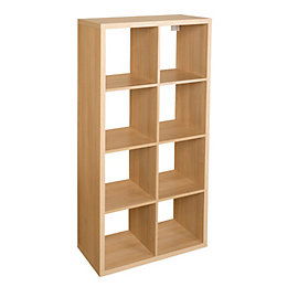 Form Mixxit Oak Effect 8 Cube Shelving Unit