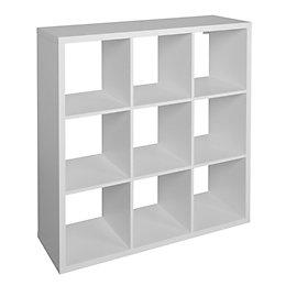 Form Mixxit White 9 Cube Shelving Unit (H)1080mm