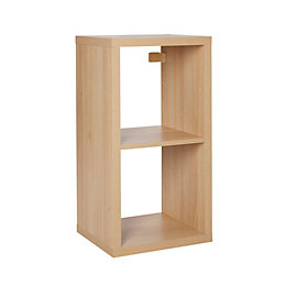 Form Mixxit Oak effect 2 cube shelving unit