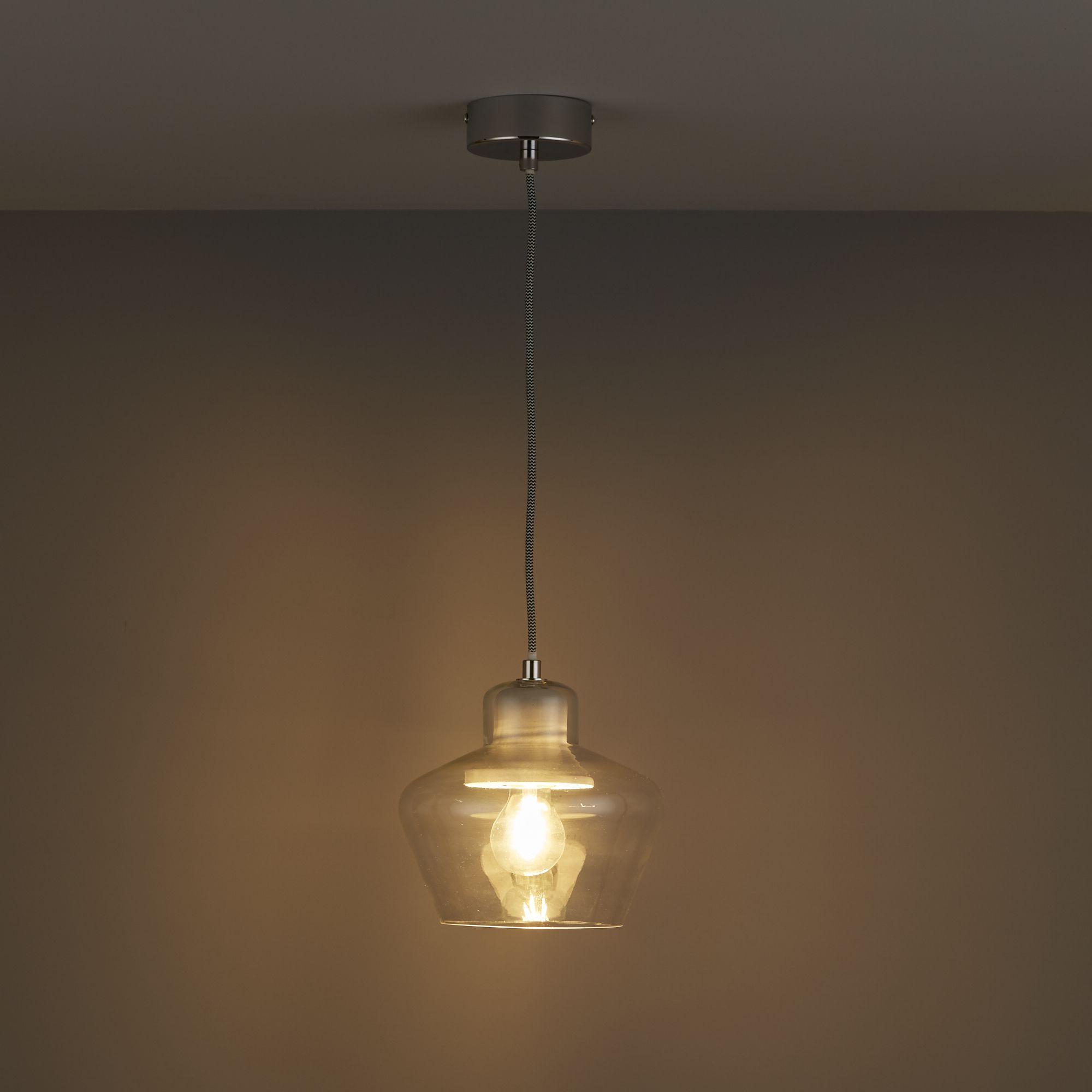 Jidda clear pendant ceiling light small departments diy at bq aloadofball Choice Image