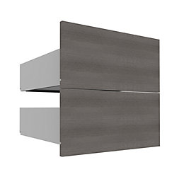 Darwin Modular Grey & Oak Effect Drawer (H)240mm