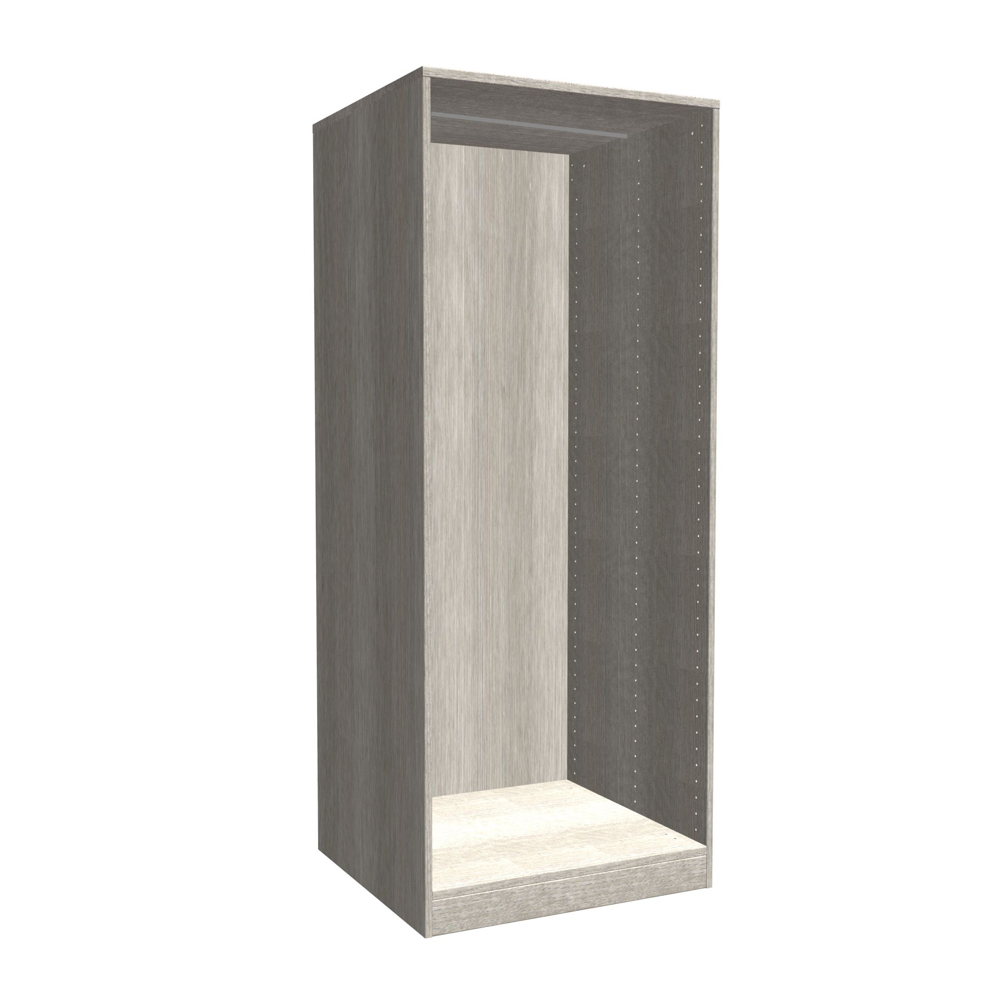 Oak Effect Kitchen Cabinets: Darwin Modular Grey Oak Effect Large Chest Cabinet (H