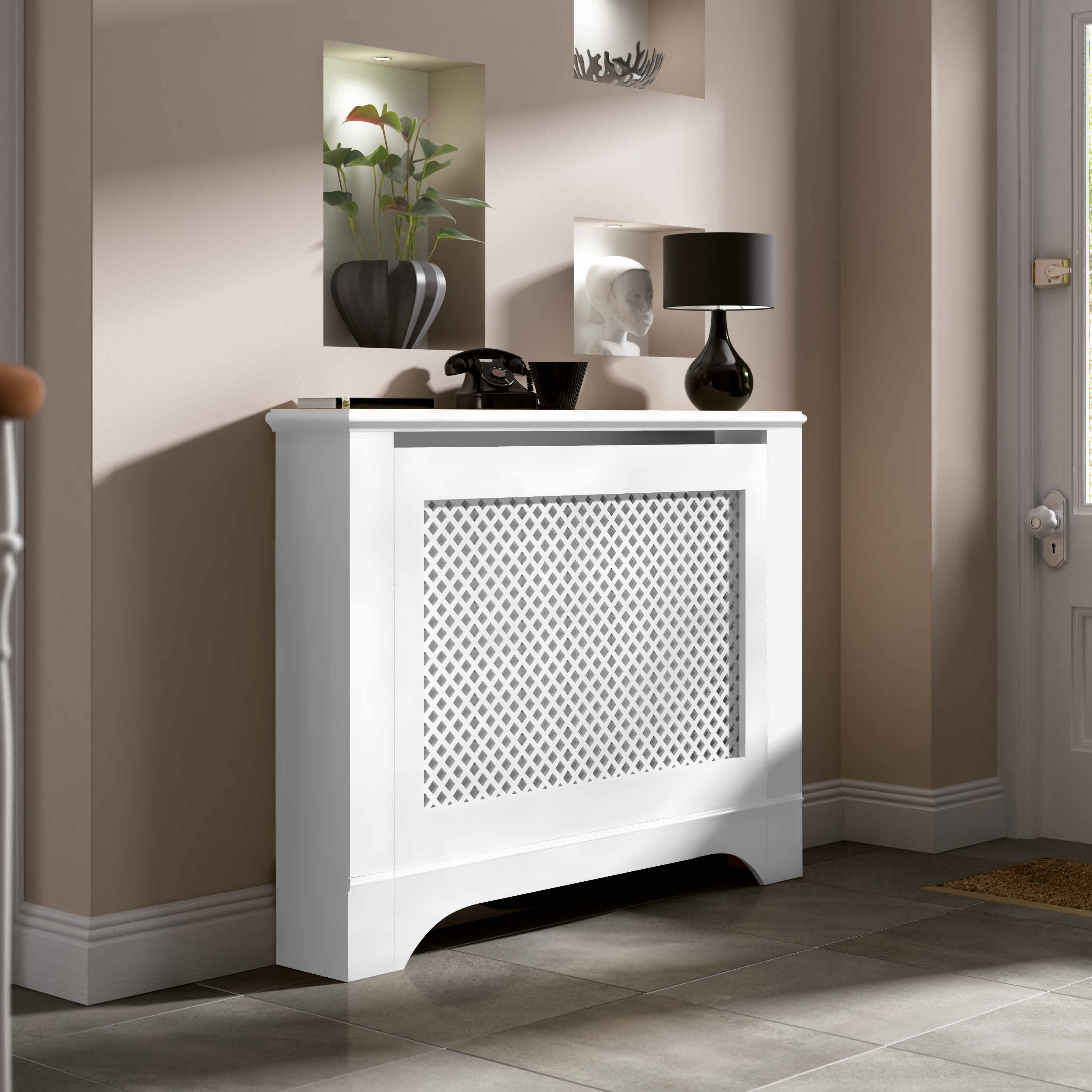 Mayfair Medium White Painted Radiator Cover Departments Diy At B Q