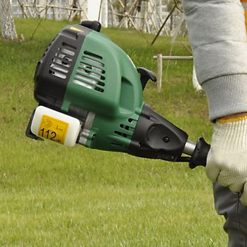 petrol grass trimmer with tank
