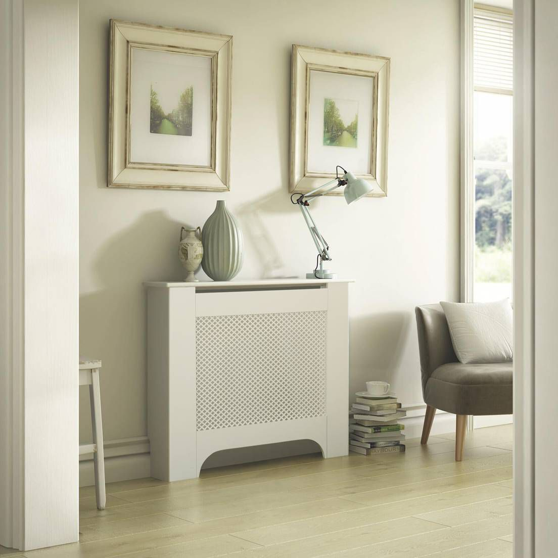 Mayfair Medium White Painted Radiator Cover Departments