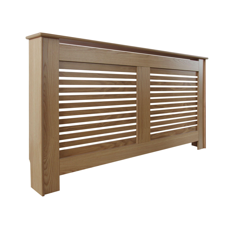 new suffolk large oak veneer radiator cover departments. Black Bedroom Furniture Sets. Home Design Ideas