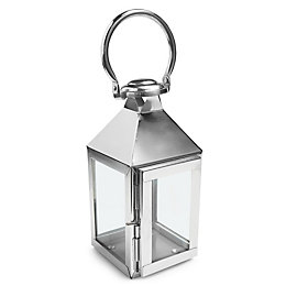 Colours Chrome Effect Metal & Glass Lantern, Small