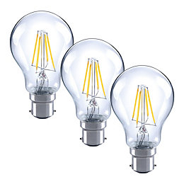 Diall B22 4W LED filament GLS Light bulb,