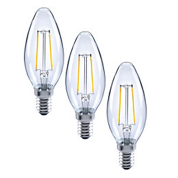 Diall E14 2W LED Filament Candle Light Bulb,