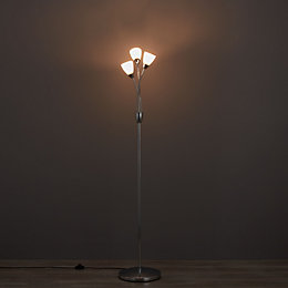 Halliste Chrome Effect Floor Lamp