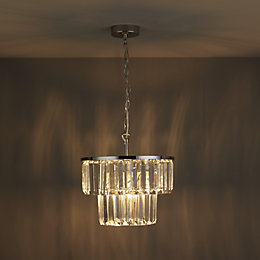 Beaufort Cut Glass Clear Pendant Ceiling Light