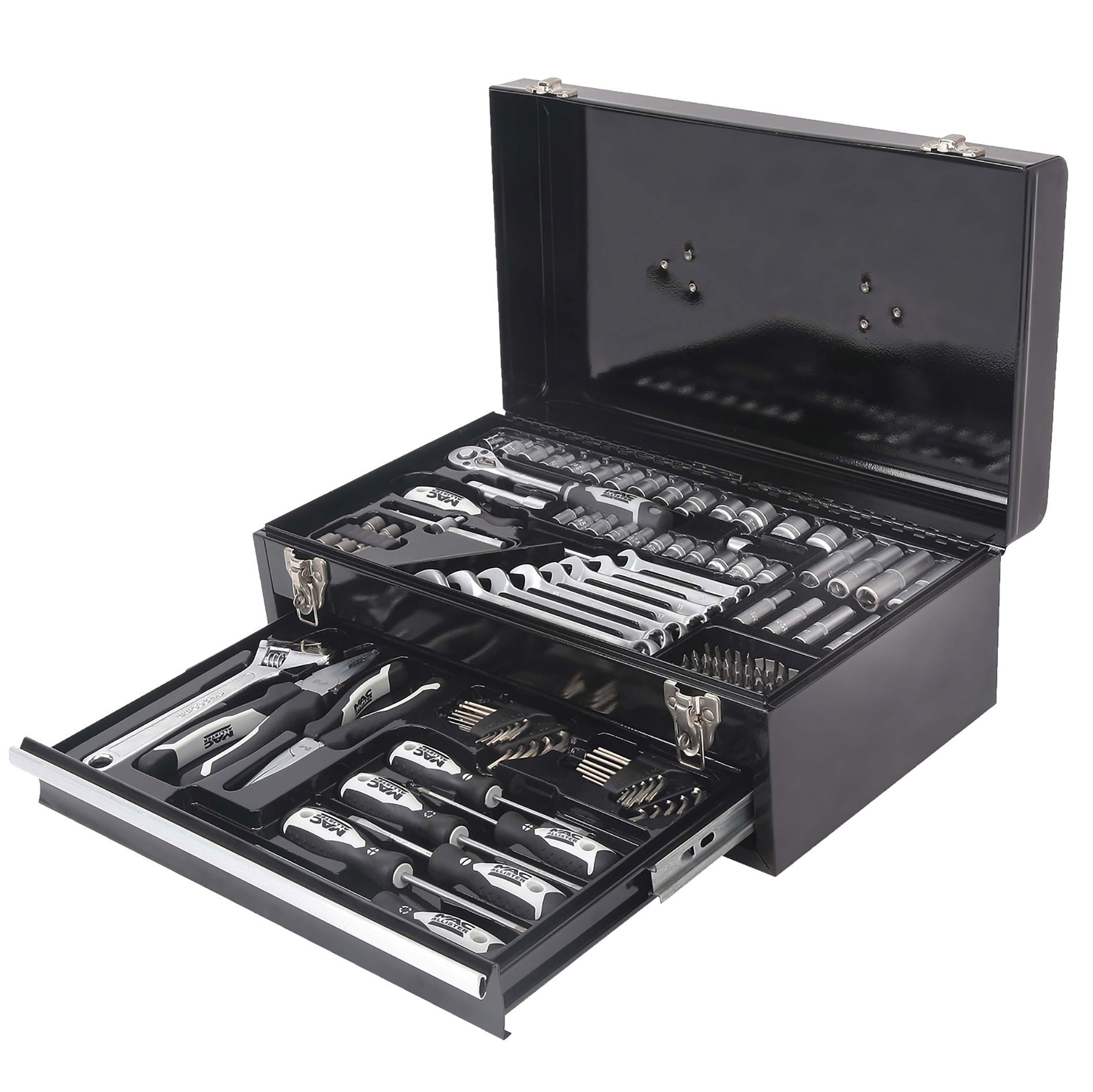 mac allister socket set 133 pieces departments diy at b q. Black Bedroom Furniture Sets. Home Design Ideas