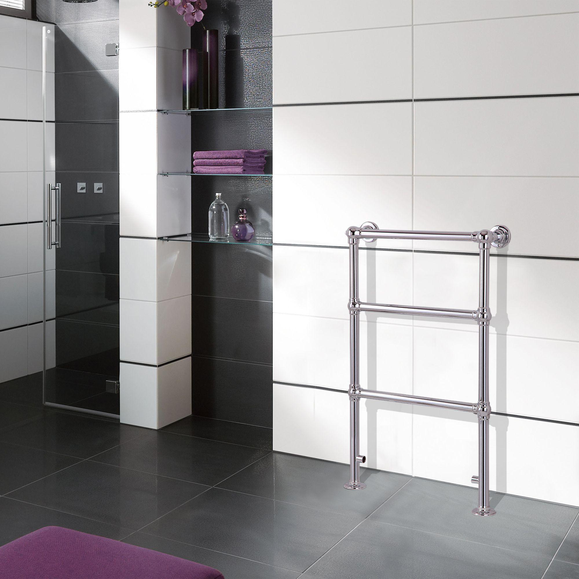 Traditional Towel warmer (H)914mm (W)535mm