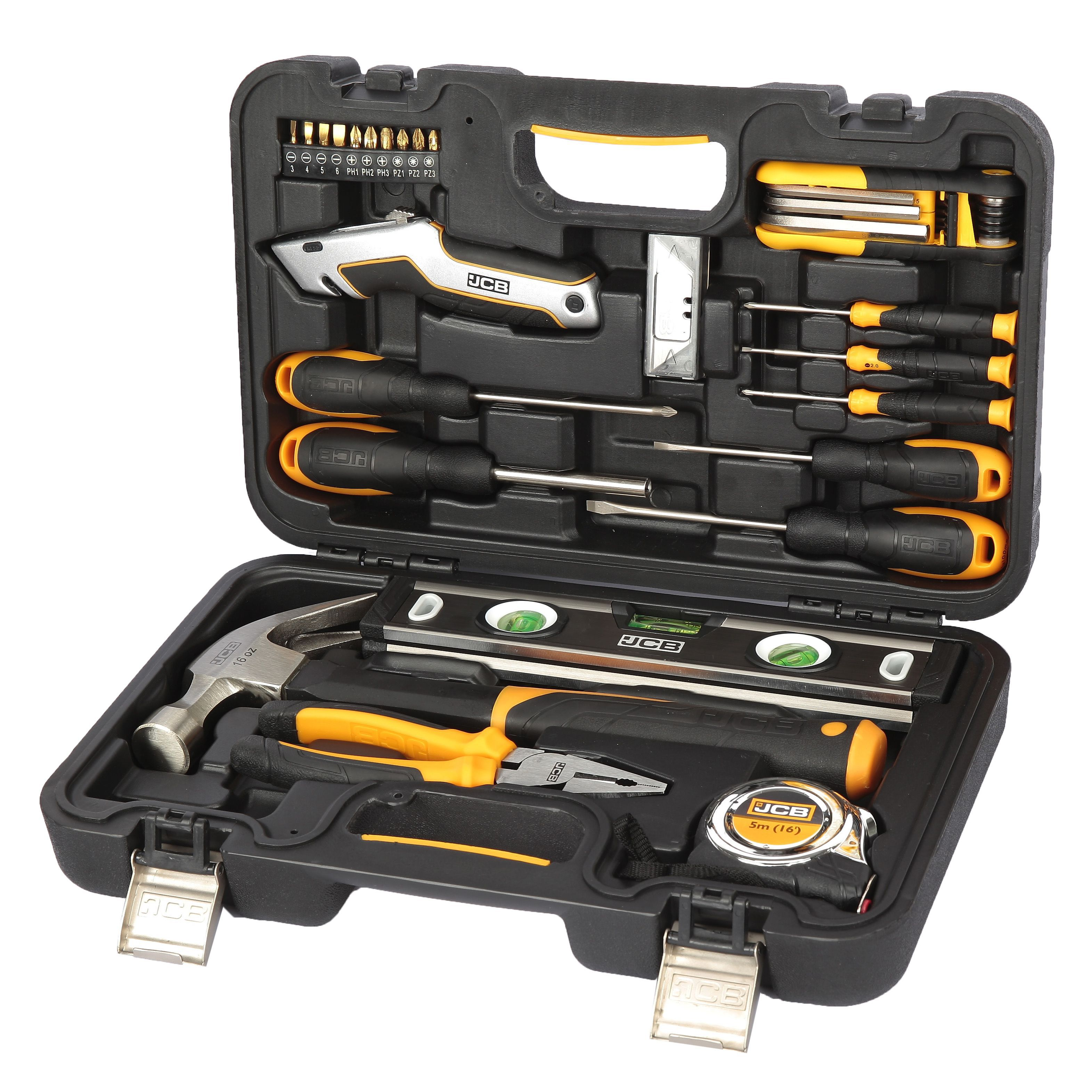 Jcb 30 Piece Heavy Duty Tool Kit Departments Diy At B Amp Q
