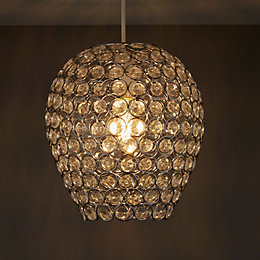 Colours Bartt Clear Crystal Effect Beaded Light Shade