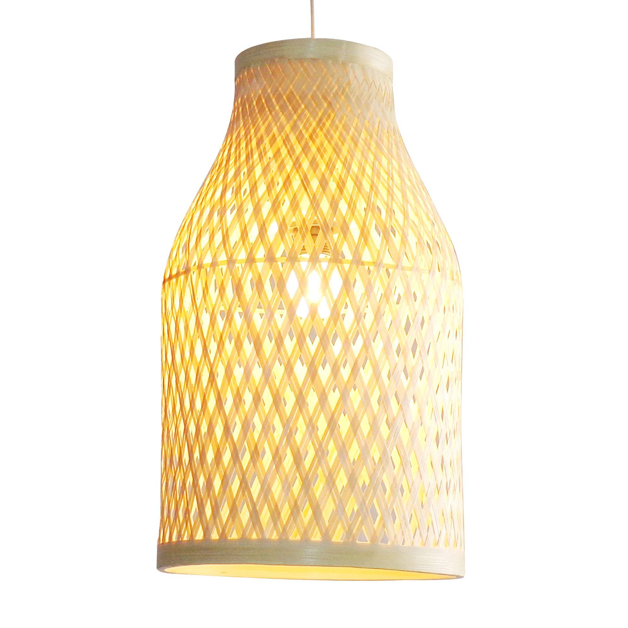 Colours Pianosa Natural Bamboo Light Shade D 230mm