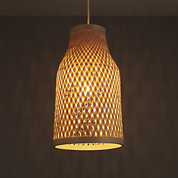 Colours Pianosa Natural Bamboo Light Shade (D)230mm