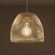 Colours Gatun Chrome effect Wire Light shade (D)205mm