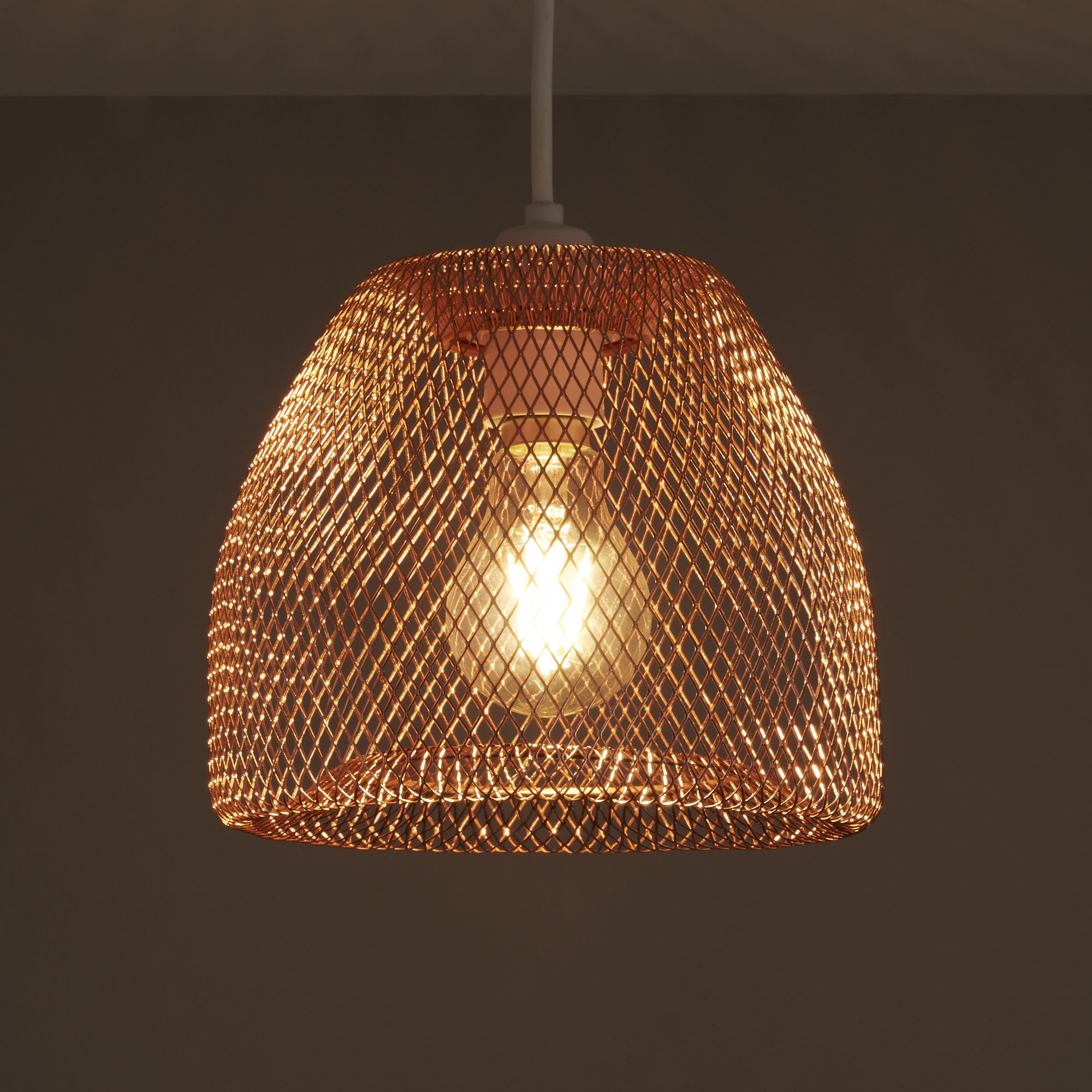 Colours Gatun Copper Wire Light Shade D 205mm