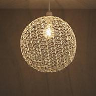 Colours Missoula White Matt Wire ball Light shade (D)300mm
