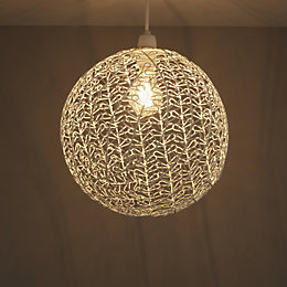 Colours Missoula White Matt Wire Ball Light Shade