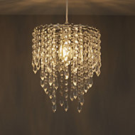 Colours Agassiz Clear Crystal effect Beaded Pendant light shade (D)250mm