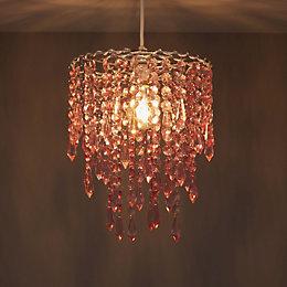 Colours Agassiz Pink Beaded Pendant Light Shade (D)250mm