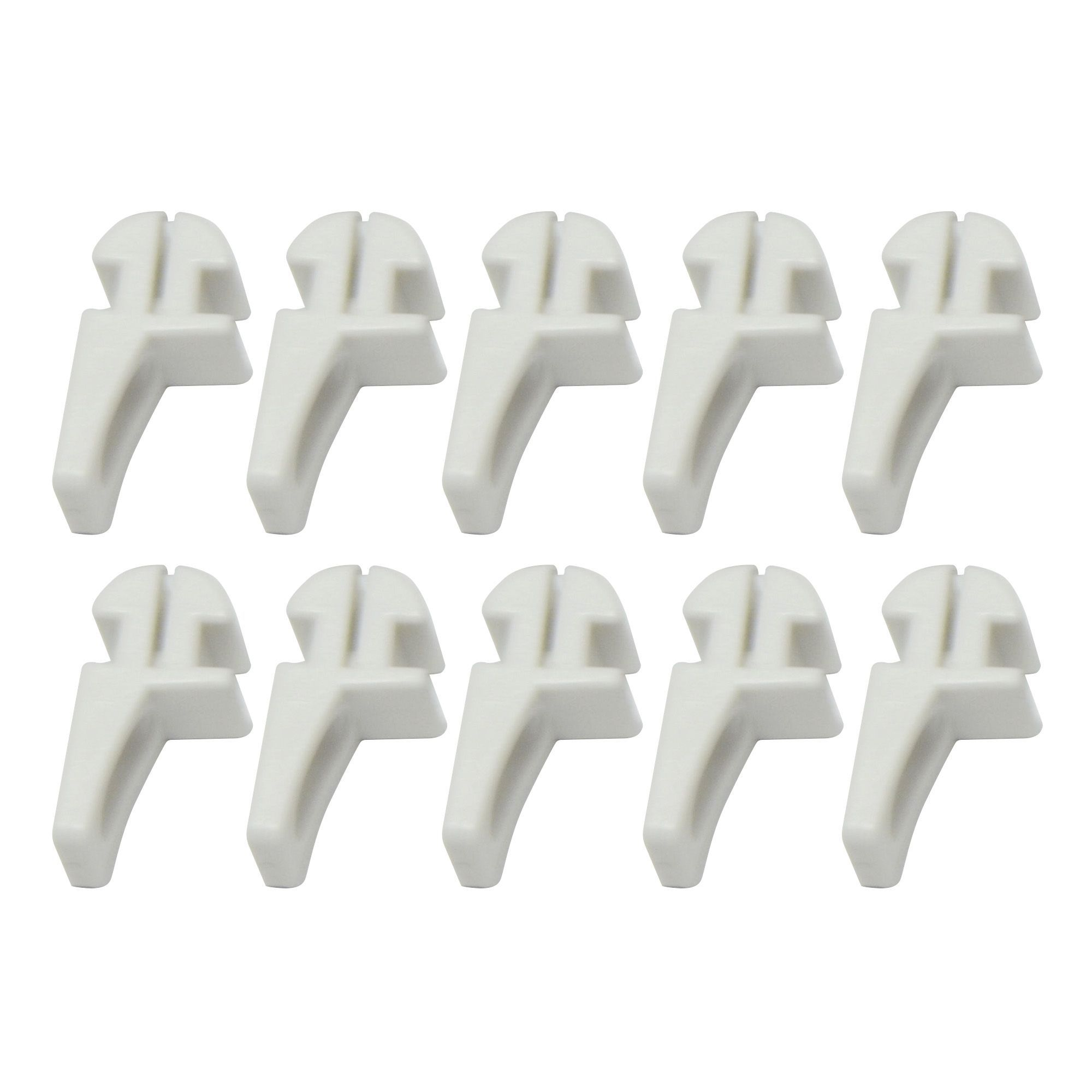 white plastic curtain track glide hook l pack of. Black Bedroom Furniture Sets. Home Design Ideas