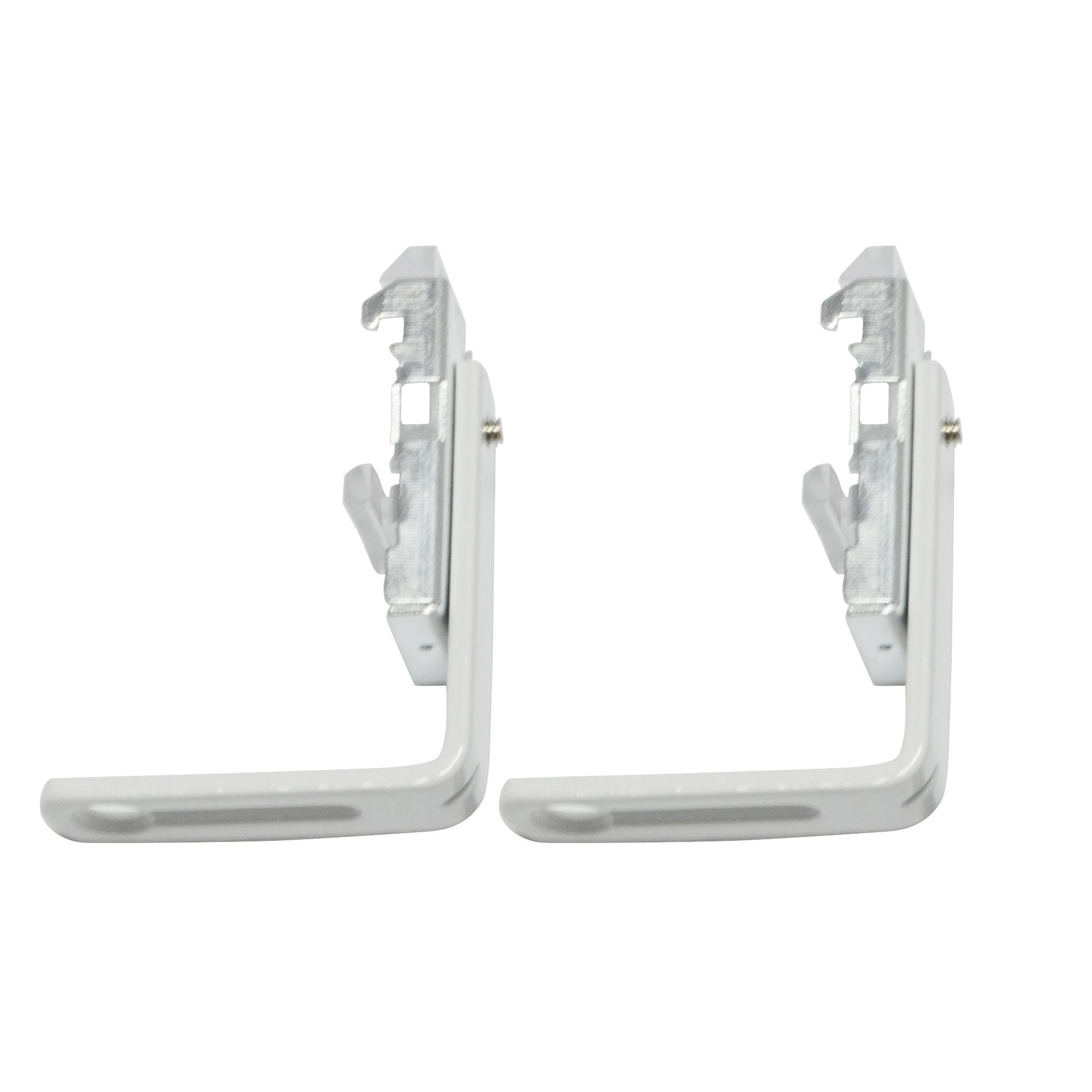 white metal curtain track bracket l 32mm pack of 2. Black Bedroom Furniture Sets. Home Design Ideas