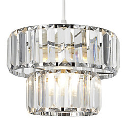 Colours Bayano Clear Crystal Effect Faceted Light Shade