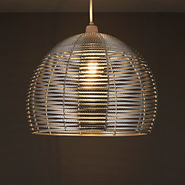 Colours Beloye Aluminium Light Shade (D)340mm
