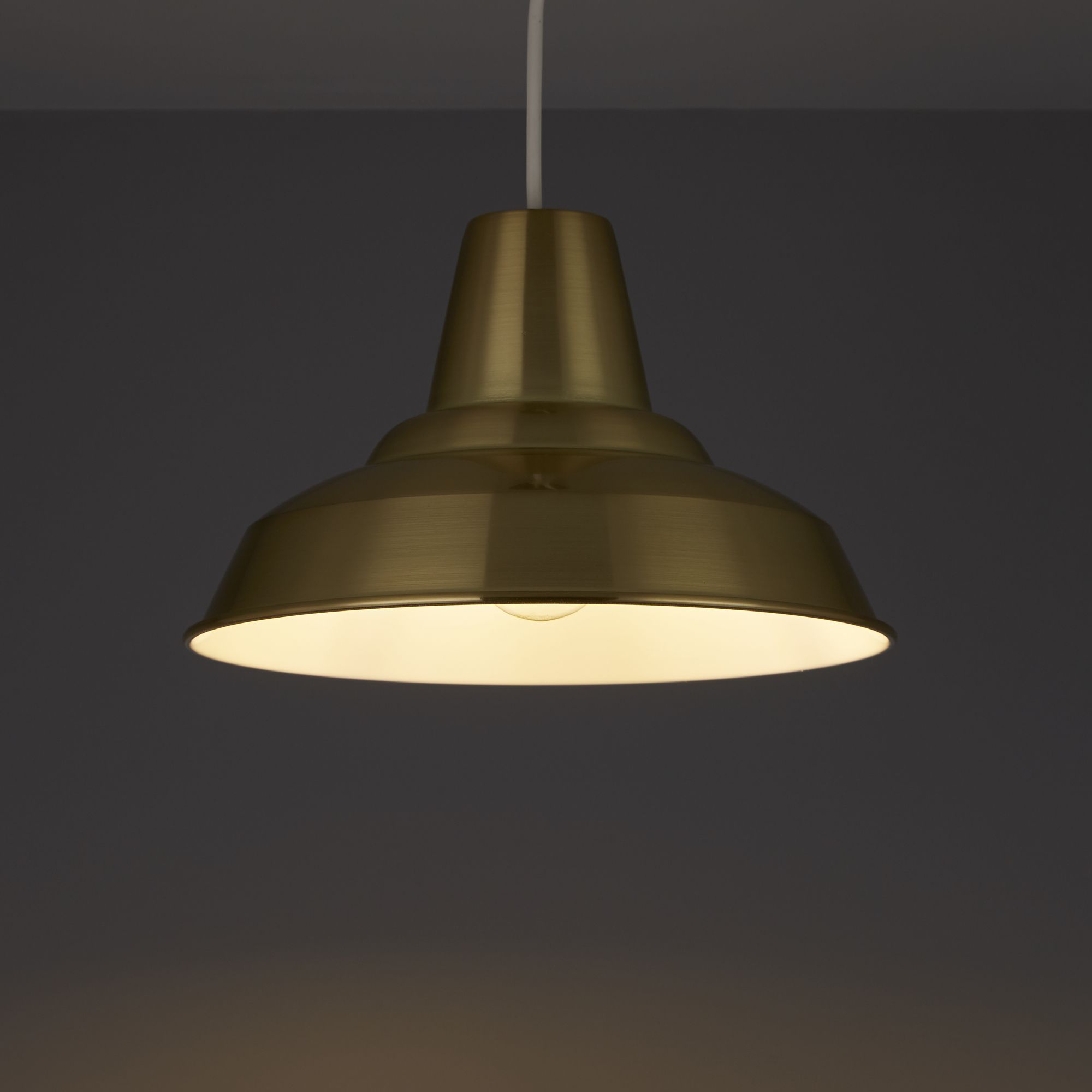 Colours Tezz Gold Brushed Gold Effect Light Shade