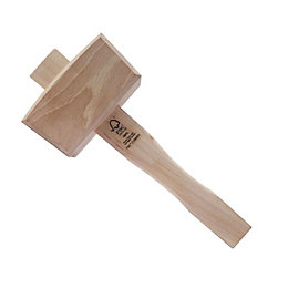 Mac Allister Beech Wood Joiner's Mallet Hammer 15.87Oz