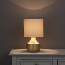 Medes Gold Brushed Brass Effect Table Lamp Base