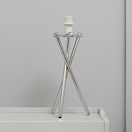 Havel Tripod Chrome Effect Table Lamp Base