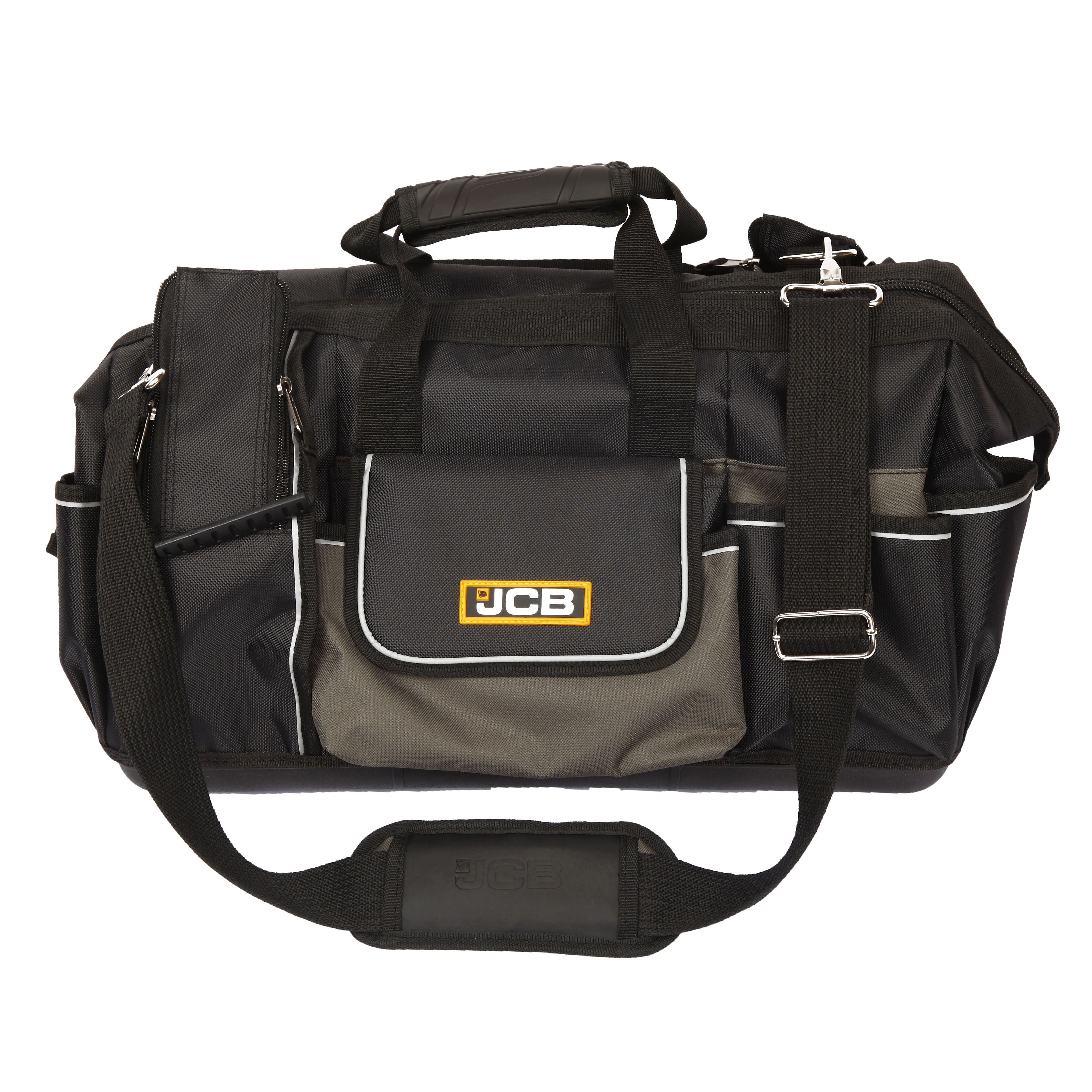 Jcb Iron Plated 20 Quot Hard Base Open Mouth Tool Bag