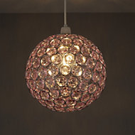 Colours Zoe Light pink Crystal effect Beaded rings Light shade (D)250mm