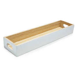 Colours White Lacquered Bamboo Tray