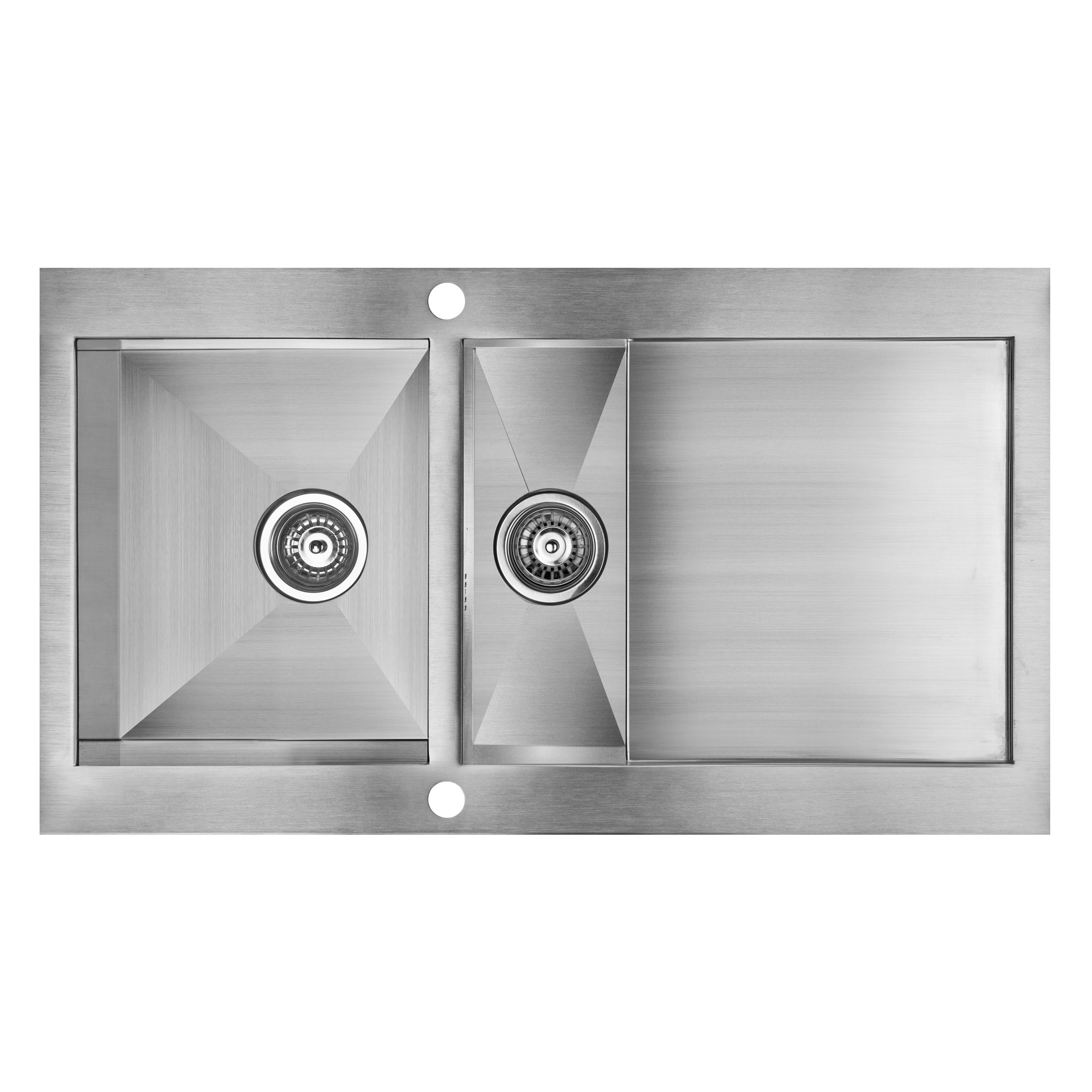Cooke Amp Lewis Unik 1 5 Bowl Satin Stainless Steel Sink
