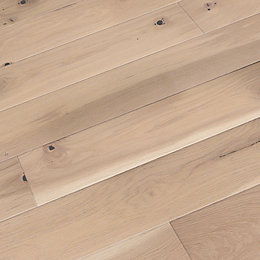 Colours Bredene cream Oak effect Wood Top layer