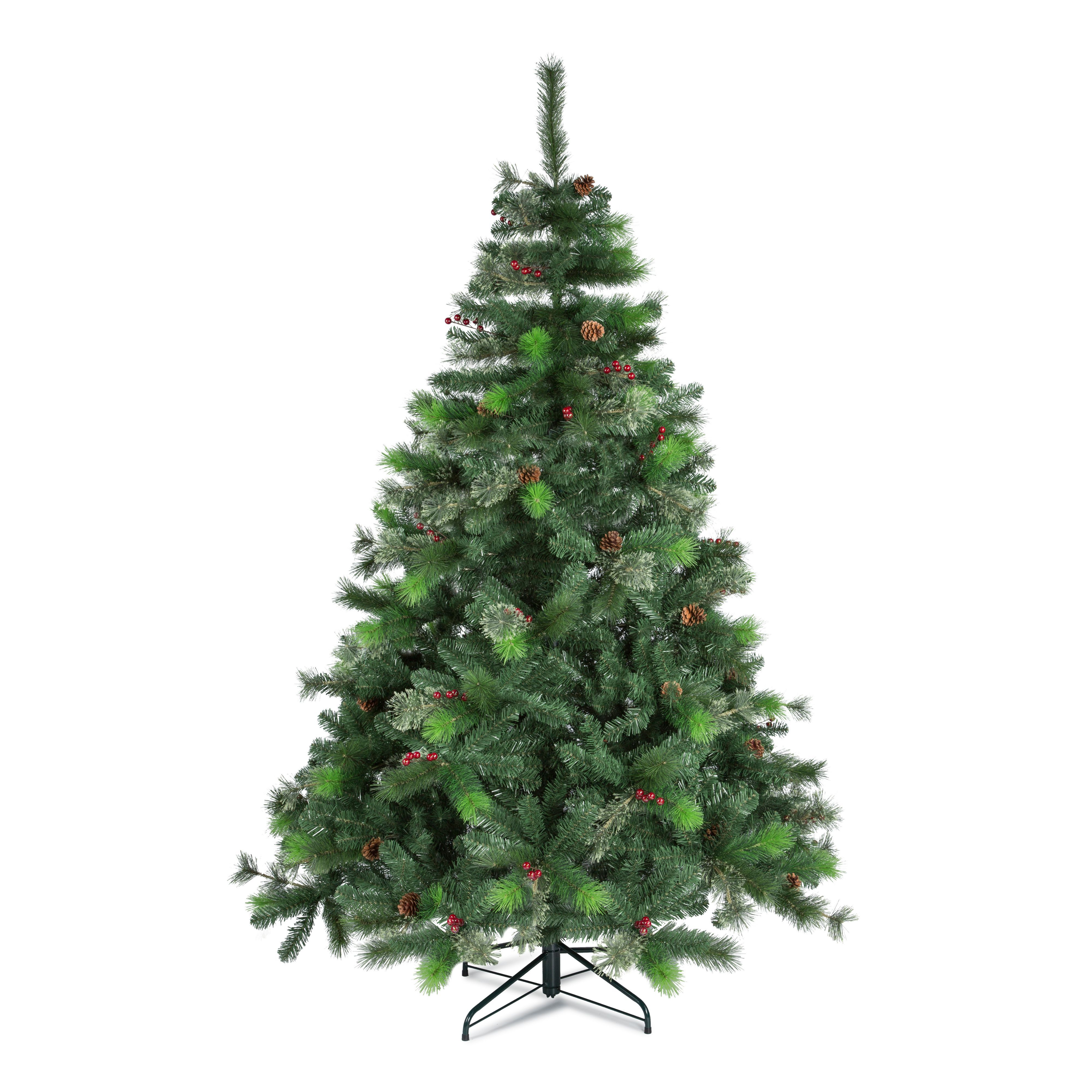 7ft Lakewood Pre Decorated Christmas Tree