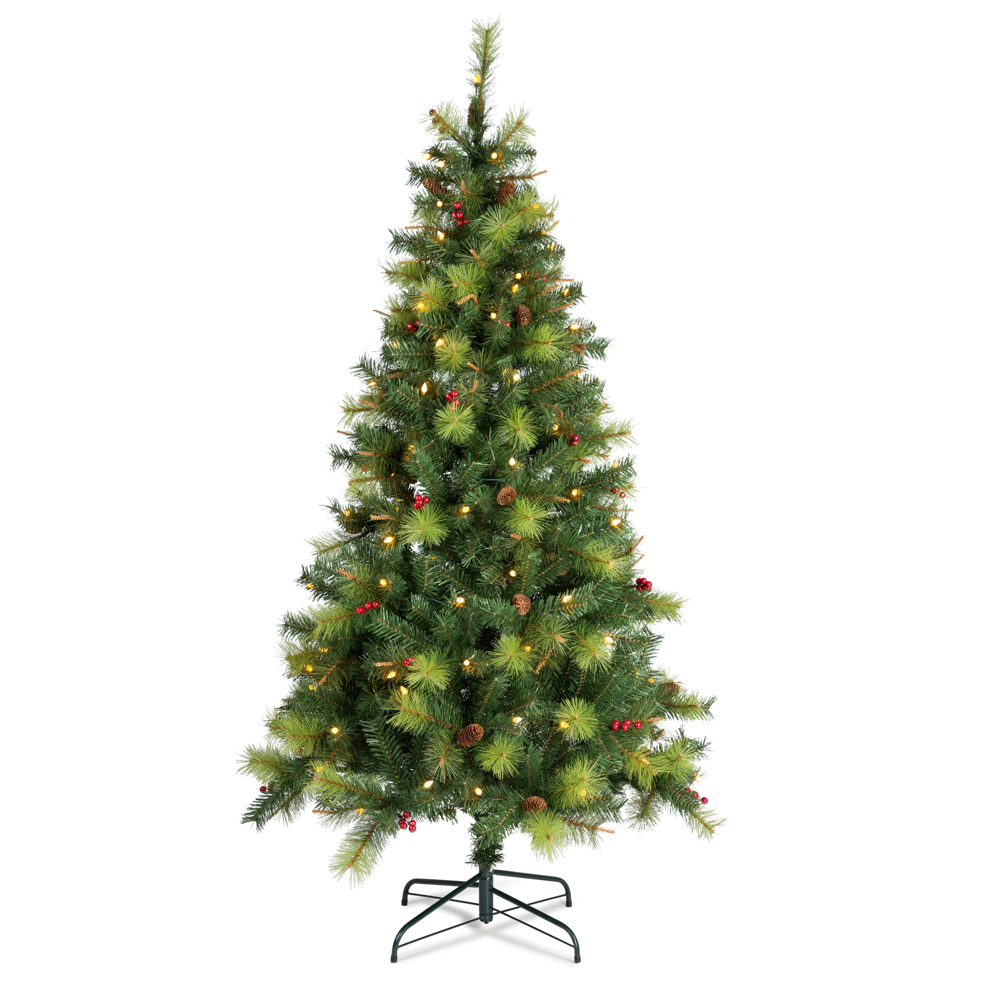 Columbia Christmas Tree: 6ft 6in Columbia Pre Lit LED Christmas Tree